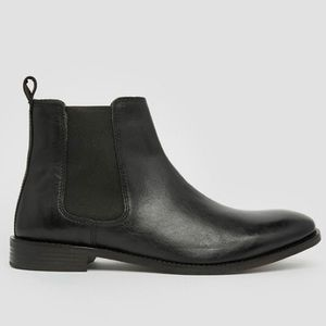 ASOS Real Leather Black Chelsea Boots